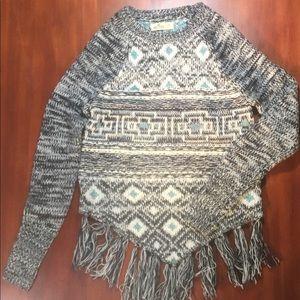 Crewneck sweater, geometric design